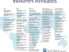 WAIMH Affiliates on the world map