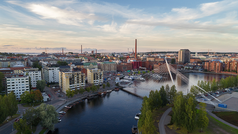 Tampere city top view